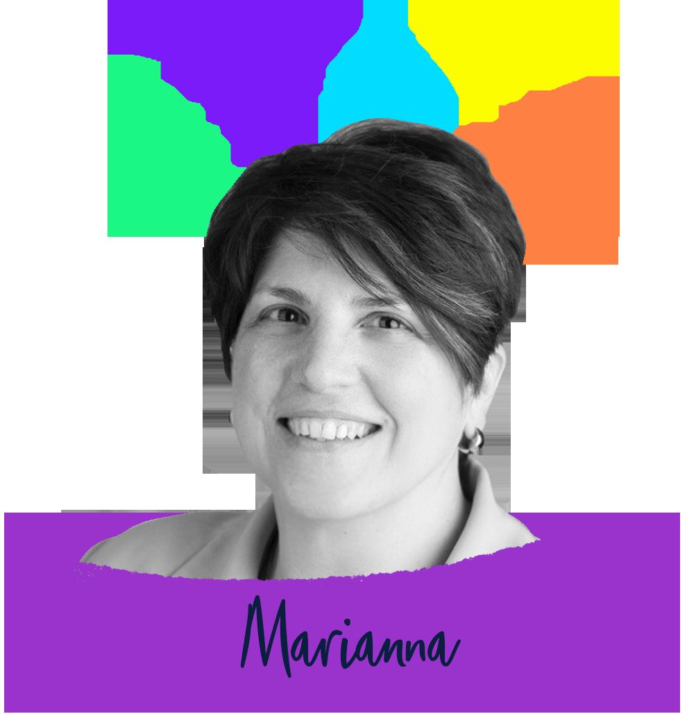 Marianna Customer love black and white purple swatch